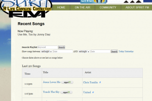 Searchable Song History