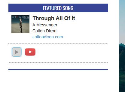 featured song widget